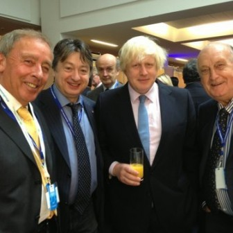Alexander Temerko with Mayor of London Boris Johnson at the 2013 Conservative Party Conference in Manchester