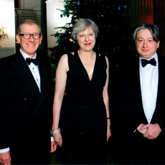With the Prime Minister Theresa May and her husband Philip May at a friendly Conservative event