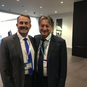With friend and long-standing Party ally Liam Fox MP at Conservative Party Conference 2017