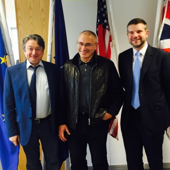 With friends Mikhail Khodorkovsky and Alan Mendoza