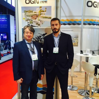 At OGN Group stand during the Offshore Europe 2015