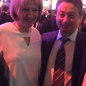 With the Prime Minister Theresa May