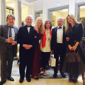 With Seva Novgorodsev, his family and Andrey Makarevich