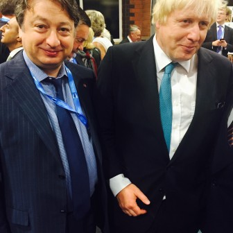 With Boris Johnson during the Conservative Conference 2015