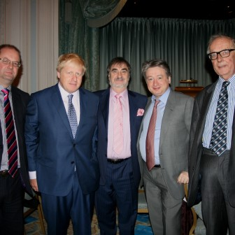With Boris Johnson at a meeting of Westminster Conservative Association