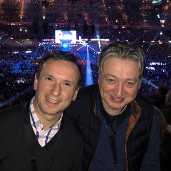 At the boxing match in Cardiff with Alun Cairns MP