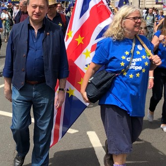 Alexander Temerko at the pro-Europe march in London on 23 June 2018