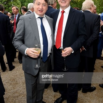 Alexander Temerko with David Davis MP at a private function