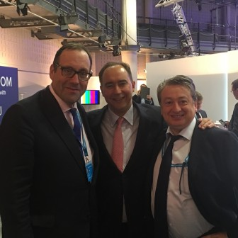 With the allies, Dominic Johnson, Party Treasurer and Richard  Harrington MP at Conservative Party Conference 2016