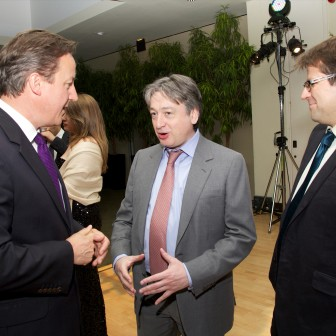 Speaking with Prime Minister David Cameron