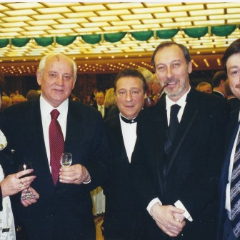 With Mikhail Gorbachev