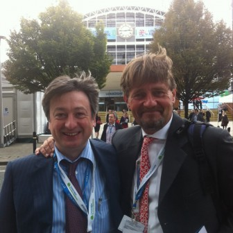 With Paddy Gilford at the Conservative Conference
