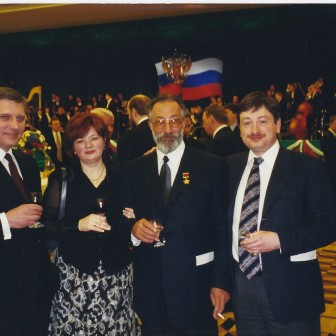 With Russian prime minister Mikhail Kasyanov and Artur Chilingarov