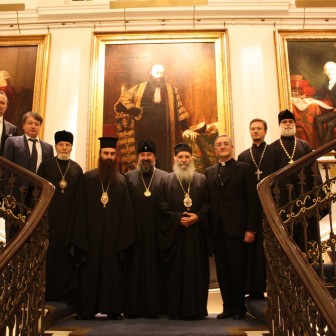 With heads of Christian denominations in England