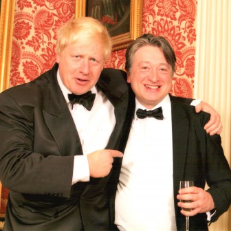 At a friendly dinner with Boris Johnson