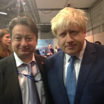 With Boris Johnson at Conservative Party Conference 2014