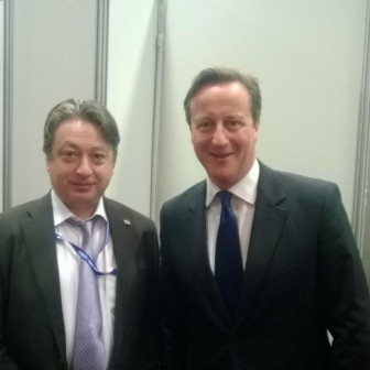 With David Cameron at Conservative Party Conference 2014