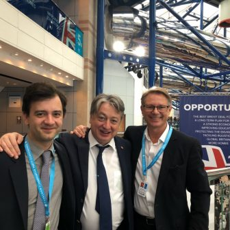With David Morris MP and son, Vladimir Temerko at the Conservative Party Conference 2018