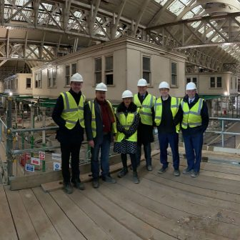 With colleagues from HoC and HoL at West Smithfield, future home of The Museum of London
