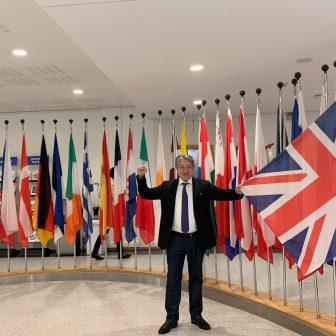 Visiting the European Parliament on 21 January 2020.